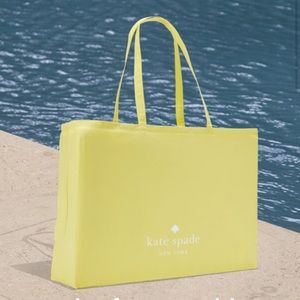 New KATE SPADE LARGE SHOPPING REUSABLE FABRIC TOTE